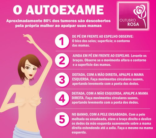 autoexame cancer de mama
